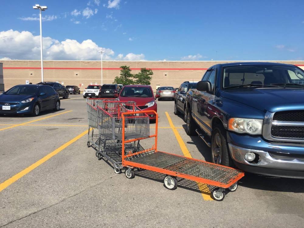 cart pileup