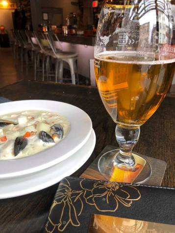 A draft with Seafood Chowder made the way Mom used to ... XO